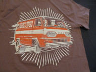 Vintage Van Early Econoline T-Shirt with Art by Ger Peters Cocoa Brown