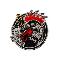 Rockabilly Rooster Embroidered Patch by Kruse  LAST 2!