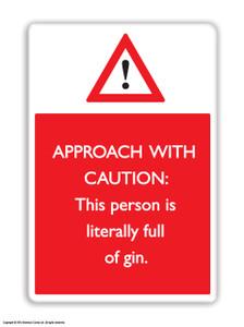 Full Of Gin Fridge Magnet