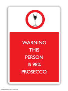 98% Prosecco Fridge Magnet