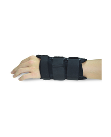 Black Carpal Tunnel Wrist Braces/Supports Front view With Hand fingers Side View