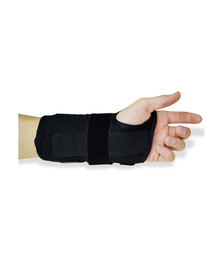 Black Carpal Tunnel Wrist Braces/Supports Front view With Hand fingers Top side View