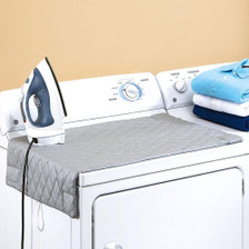 Houseables Magnetic Ironing Mat Laundry Pad Washer Dryer Cover Board Heat Resistant Blanket - Side View