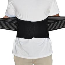 Back Support Brace Belt Lumbar Lower Waist Double Adjust- XL, Top View