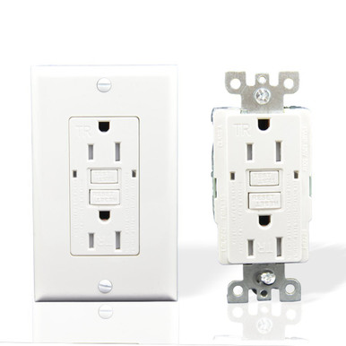 GFCI Outlet Receptacle 20 AMP 10 Pack, Close Up View