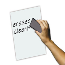 Erase Sheets White Board Removable Vinyl Sticker Whiteboard- 5 Pack, Side View