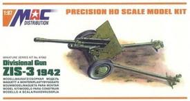 Soviet ZiS-3, 76.2mm Divisional Gun  Mac Kits 87062 Plastic 1/87 Scale Kit Unfinished