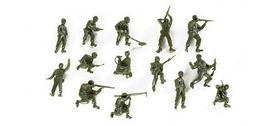 U.S. Combat Figures (14) Herpa 741194  Roco Minitanks 117 New 1/87 Scale Plastic