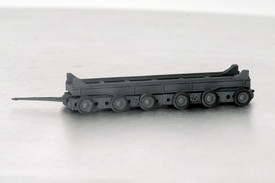 German Heavy Transport Trailer 80 Ton. Wespe 87020 Resin 1/87 Scale Finished Mod