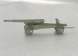 French WWII, Heavy Gun 155mm GPF. Wespe 87029, Unfinished Resin Kit 1/87