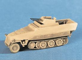 Sd.Kfz. 251/21 Ausf. D Armored Flak Gun Carrier, Trident 90129 Kit 1/87 Scale