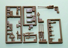 Assorted Guns, Sights & Ammo Boxes. Trident 96040 New 1/87 Scale Plastic Kit