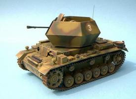 Flakpanzer III w/37mm Ostwind Turret #112100232