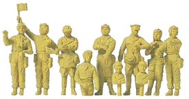 Russian WWII Tank Crew. Preiser  16546. New 1/87 Scale 10 Figures Plastic Kit