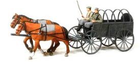 German WWII Horse Drawn Field Wagon. Preiser 16570 New 1/87 Plastic Unfinished