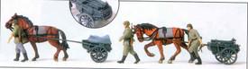 German Reich Horse Drawn Ammo Carts. Preiser 16576 New 1/87 Scale Plastic Kit Un