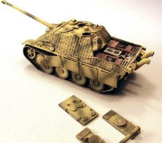 SdKfz 173 Jagdpanther w/Zimmerit Trident 87116 New 1/87 Scale Resin Kit