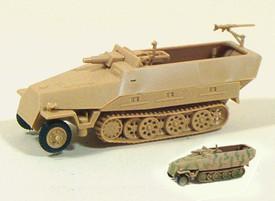 SdKfz 251/9 Ausf.D 7.5cm SP gun Half Track. Trident  90092 New 1/87 Scale Unfini