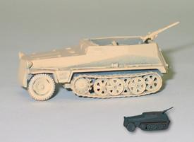 German WWII Light Half Track w/81mm Mortar. 1/87 Scale Trident 90247 Plastic