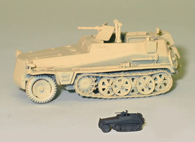 Sd.Kfz. 250/5 Observation Half Track Trident 90267 New 1/87 Scale Unfinished