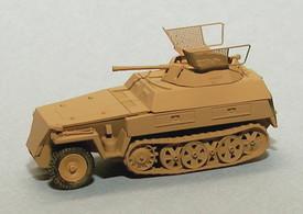 SdKfz 250/9 Armored Half Track w/20mm Turret. Trident 90331 New 1/87 Plastic Kit