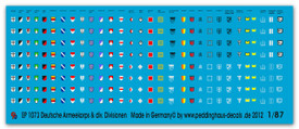 1073 German Corps and division decals