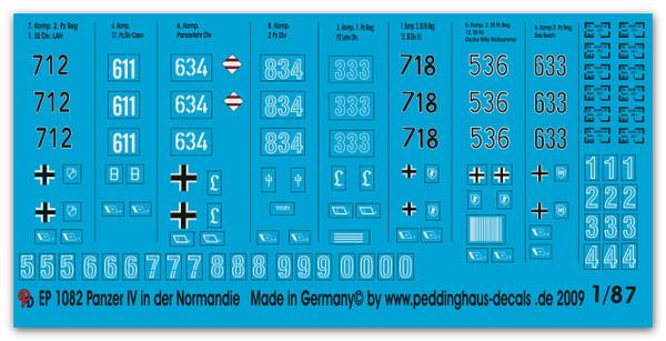 1082 Panzer IV H decals