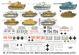 Panzers in Russia, Kursk, 1943 Peddinghaus Decals 2101 New 1/87 Scale