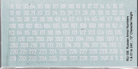 Russian WWII 'Cryllic' Style Numbers. I-94 RU106. Decals New 1/87 & Smaller Scal