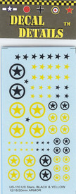 US Black and Yellow Stars. I-94 US110. Decals New 1/87 & Smaller Scales