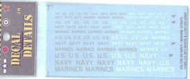 US129 Decals , US Navy & Marines Lettering