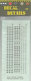 Black Lettering & Numbers. I-94 LB101, Decals New 1/87 & Smaller