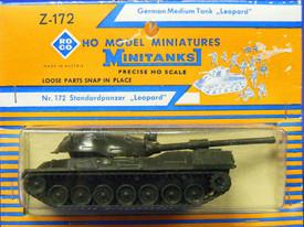 Leopard Type II, Medium Tank. Herpa / Roco Minitanks 172 Plastic Kit