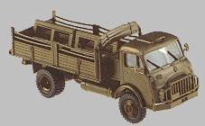 Steyr 680M 4x4 Flatbed Truck w/Cover. Minitanks  #559