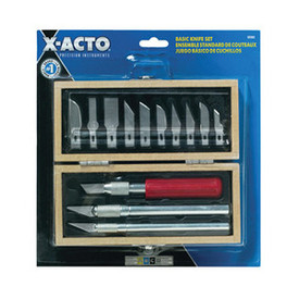 X-Acto Basic Knife & Blade Set. 13 Pcs In Wood Box, X5082