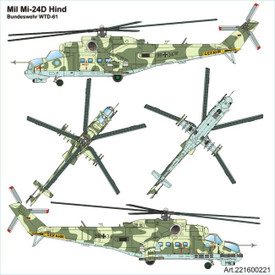 Mil-24P Hind-F Helicopter, BW. Arsenal-M 221600221 Plastic 1/87 Scale Kit
