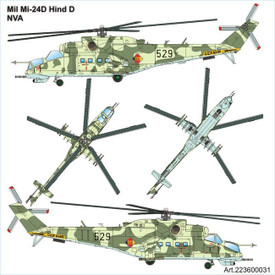 MIL-24D Hind-D East German . Arsenal-M 223600031 Plastic Kit 1/87 Scale