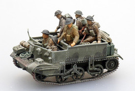 British WWII Crew for Universal Carriers, 6 figs unpainted. Artitec 87056 Kit 1/87 Scale