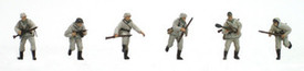 German Infantry set 2, Winter Uniforms, Resin 6 figs unpainted. Artitec 87063