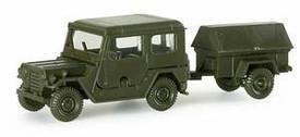 M151A2 Ford Jeep w/ M-416 Supply Trailer. Minitanks 482 Plastic 1/87 Kit