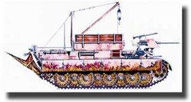 Bergepanther Ausf. D, Recovery Tank, CMK V005. Resin 1/87 Scale unfinished Kit