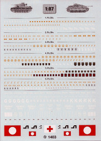 Panzer divisions 1 to 6. TL decals 1403