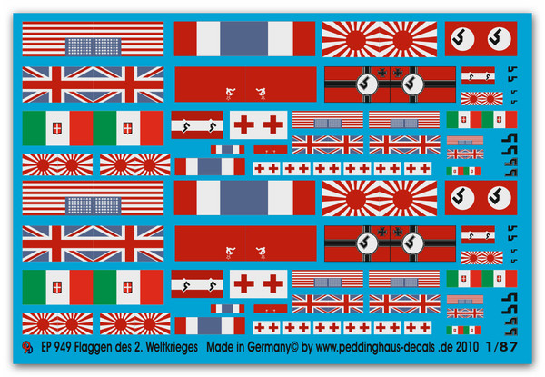 WWII National Flags