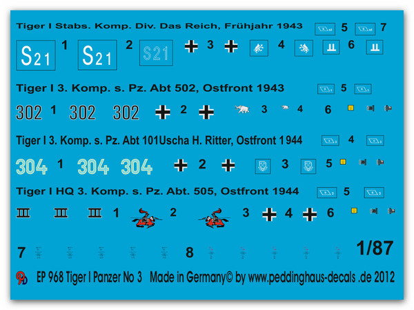 968 Tiger I markings