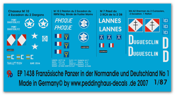 1438 French tanks in Normandy & Germany
