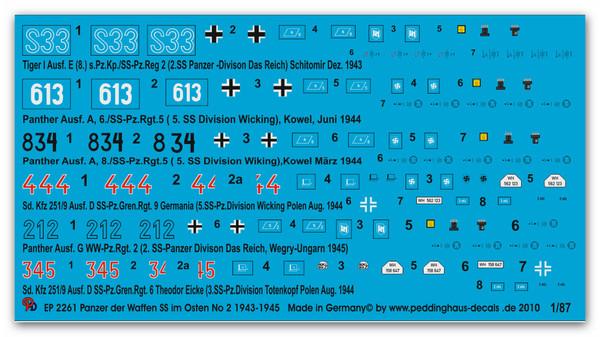 2261 Waffen SS Tanks in Russia 43-45