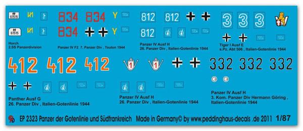 2323 German tanks Gothic Line