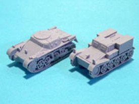 Munitionspanzer I Ausf. A & Borgward Ammunition Carrier WSW 872220 Resin 1/87 Sc