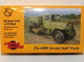 Russian WWII ZiS-42M Half Track Z+Z Modell 87083 New 1/87 Scale Plastic Kit