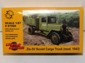 Russian WWII ZiS-5V Cargo Truck Z+Z Modell 87080 New 1/87 Scale Kit Unassembled